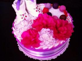 подарок торт из памперсов