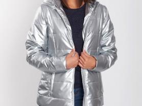 Легкая куртка из плащевой ткани с тонким утеп-р.48