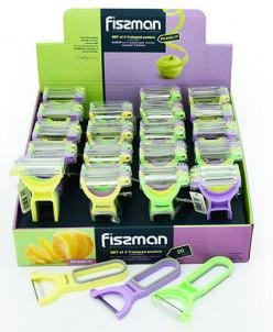 8485 FISSMAN Набор из 3 ножей для чистки овощей Y-форма (нер