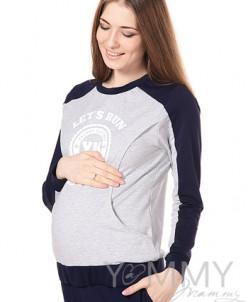 Толстовка с принтом для беременных и кормящих мамочек Y@mmy