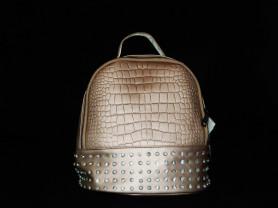 Рюкзак со стразами (золотисто бежевый)