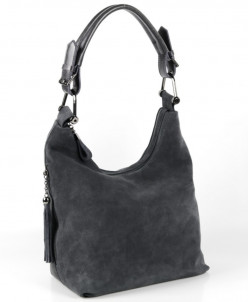 Женская кожаная сумка 2948-3 Грей