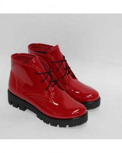 34283df5a Красные лаковые ботинки на тракторной подошве 349737 - Babyblog.ru