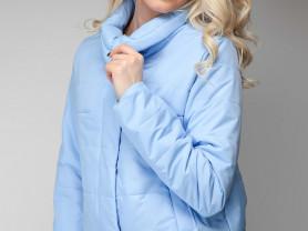 весенняя куртка из плащевой ткани с тонким утеплит