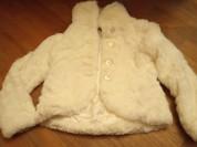 Куртка - шубка из белого меха Sisley, р 116-128