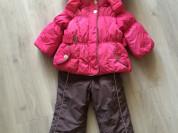 Зимний костюм на пуху для девочки
