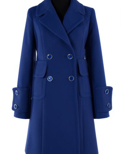 Пальто женское демисезонное Кашемир Сапфир