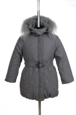 10-0019 Куртка зимняя Плащевка Светло-серый