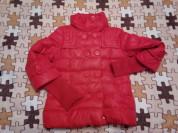 Куртка-пуховик с трикотажным рукавом, есть капюшон