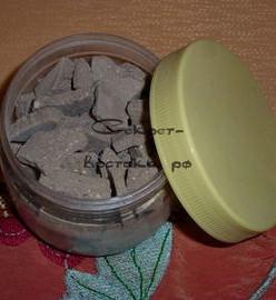 Гассул - целиковая лечебная глина для лица, волос и тела Hel