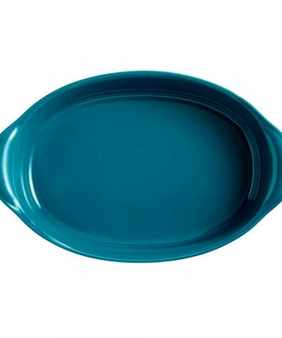 Форма для запекания овальная 41 см (цвет: лазурь)