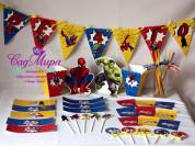 Набор для дня рождения в стиле супер герои.