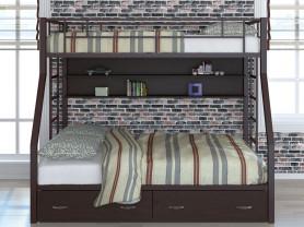 Двухъярусная металлическая кровать Раута твист