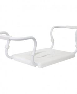 Сиденье для ванной 36*26 см (белое), стальной каркас 42,5-65