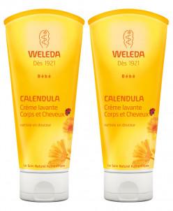 Weleda Calendula Body and Hair Washing Cream 2 x 200ml