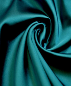 Атласная ткань яркой бирюзовой расцветки