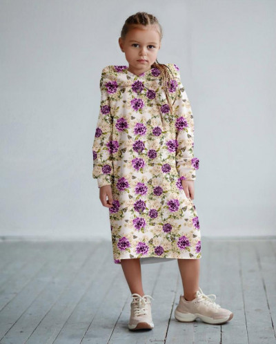 Платье с капюшоном Бабочки в летних цветах 3
