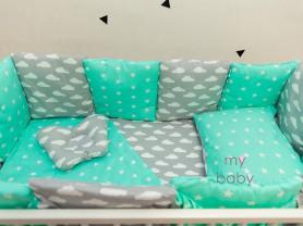 Бортики- подушки в кроватку 12 шт.