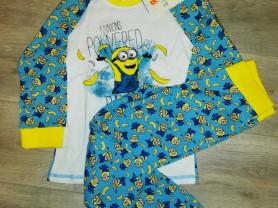 Пижама детская новая Миньоны р. 122-128, хлопок, я