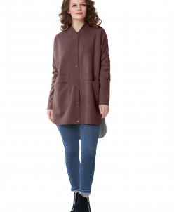 """Пальто """"Берни"""" коричневый"""