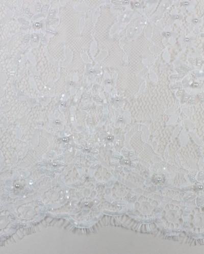 Стеклярус, цвет ванильного льда
