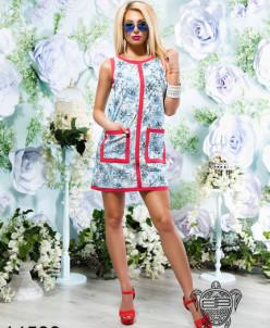 Стильное легкое платье из коттона - 14539
