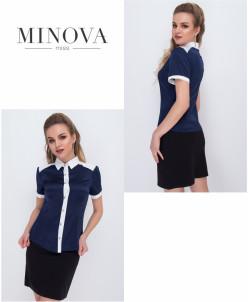 Блуза №1051-Синий
