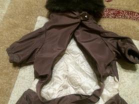 костюм новый для маленьких собак с мехом