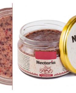 в наличие 1 баночка- 250 гр Взбитый мед Nectaria с клюквой