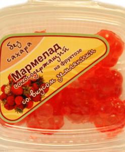 "Мармелад без сахара с соком ""Земляника"" 140г"