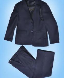 122-152 3в1 д/м пиджак , брюки , жилет  Т-СИНИЙ