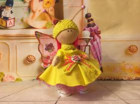 кукла бабочка ручной работы