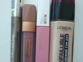 Сет косметики, практически новые продукты.