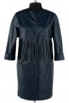 12-0111 Пальто облегченное Эко-кожа Темно-синий