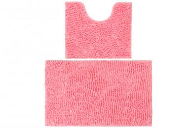 """Набор ковриков 2 шт. 50*45*2,5 см и 80*50*2,5 см """"Розовый"""" с"""