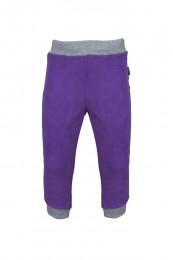 Флисовые штаны цвет фиолетовый