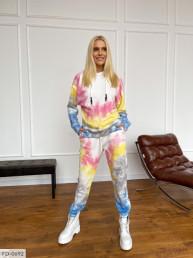 Прогулочный костюм с цветной абстракцией FD-0692