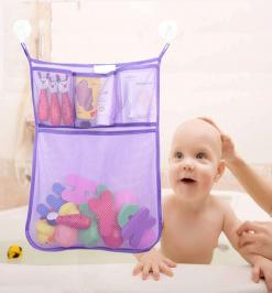 Органайзер для игрушек 4 кармашка в ванную ФИОЛЕТОВЫЙ