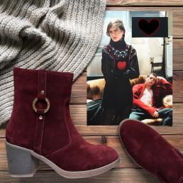 Замшевые ботинки. New collection 17-18!