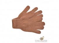 Детские перчатки из верблюжьей шерсти (коричневые)