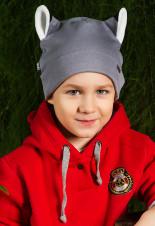 2Весенняя детская шапка Волк Shumi Design