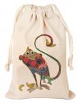 Мешочек подарочный с рисунком Символ года обезьянка