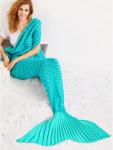 Одеяло-русалка бирюзовое
