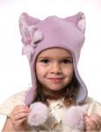 "Зимняя шапка для девочки ""Ушки"""