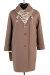 12-0060 Пальто летнее Жаккард Светло-коричневый