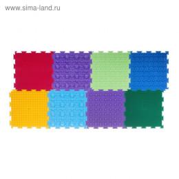 Напольное покрытие «Орто», 8 модулей, 6 видов, цвета МИКС
