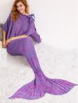 Одеяло-русалка сиренево-голубой меланж