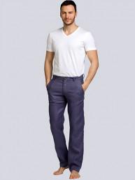 Мужские льняные брюки св.синий