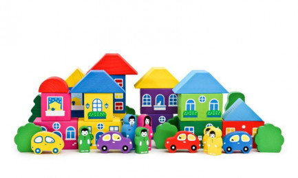 Конструктор «Цветной городок» большой