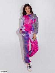 Спортивный костюм с цветными разводами FD-0844